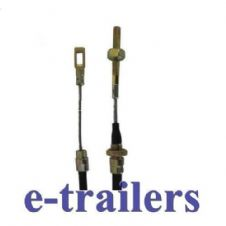 ONE 1000mm FIXED EYE STEEL BLACK TRAILER BRAKE CABLE + NUTS  FOR ALKO SYSTEMS